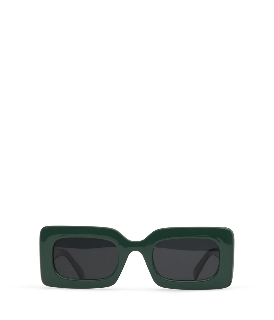 Green Pine Rectangle Frame Tito Sunglasses by Matt & Nat