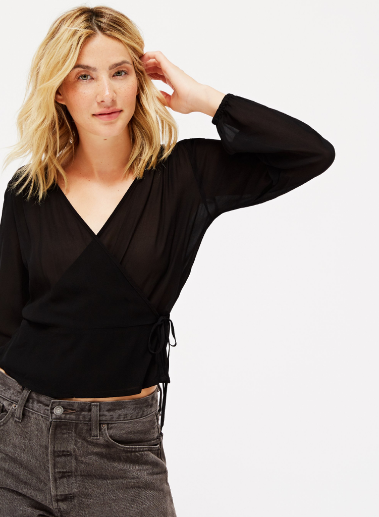 Bonnie Top (Tar) by Lacausa Clothing Ethical Clothing Made in LA