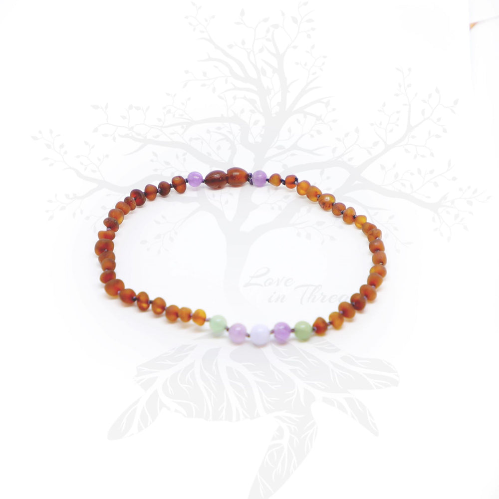 "Love in Threads/Pretty in Purple Exclusive ""Starling"" 12"" Baltic Amber Necklace"