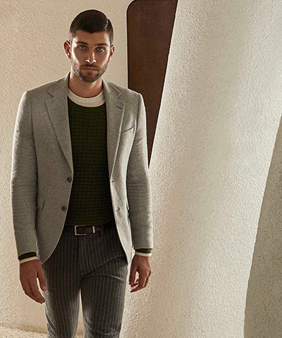 AUDEN ECO CHECKED SUIT JACKET