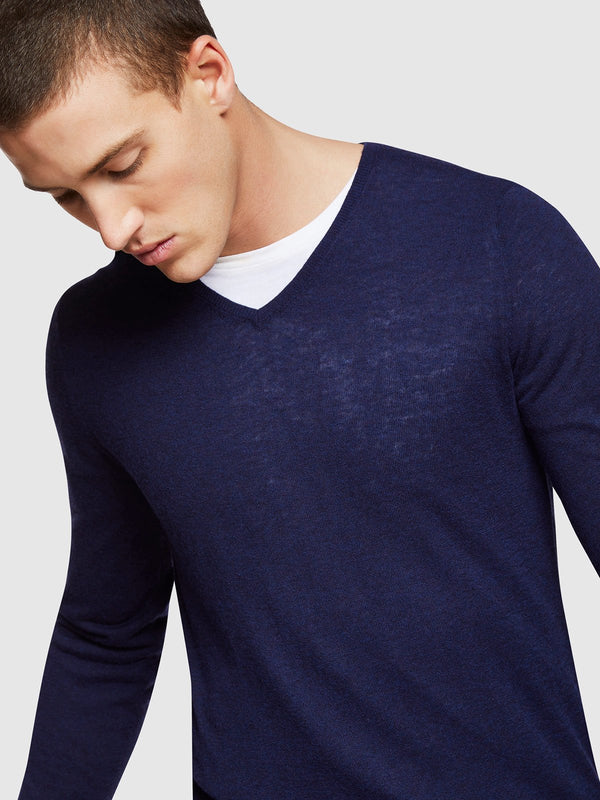 RITCHIE CREW NECK LAMBSWOOL KNIT