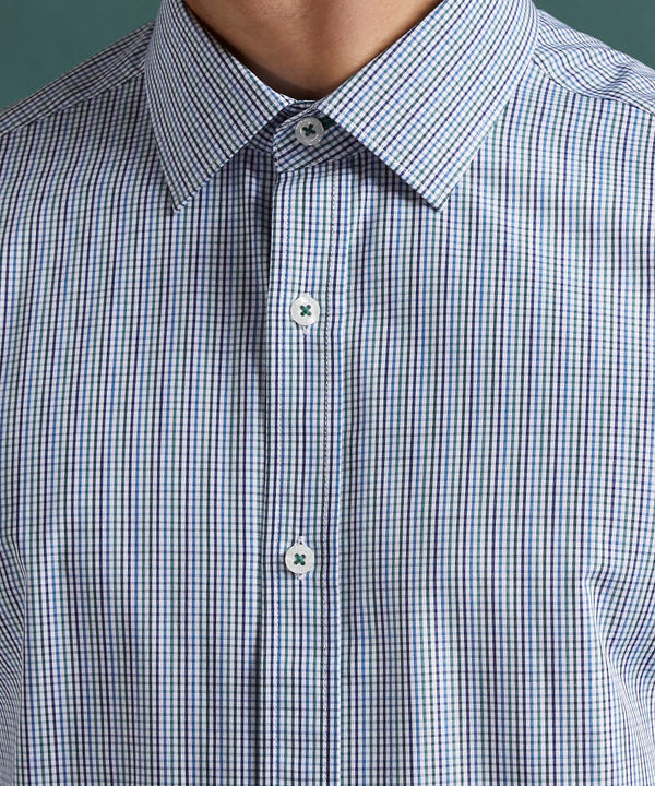 NAVY STRETCH TRAVEL SHIRT
