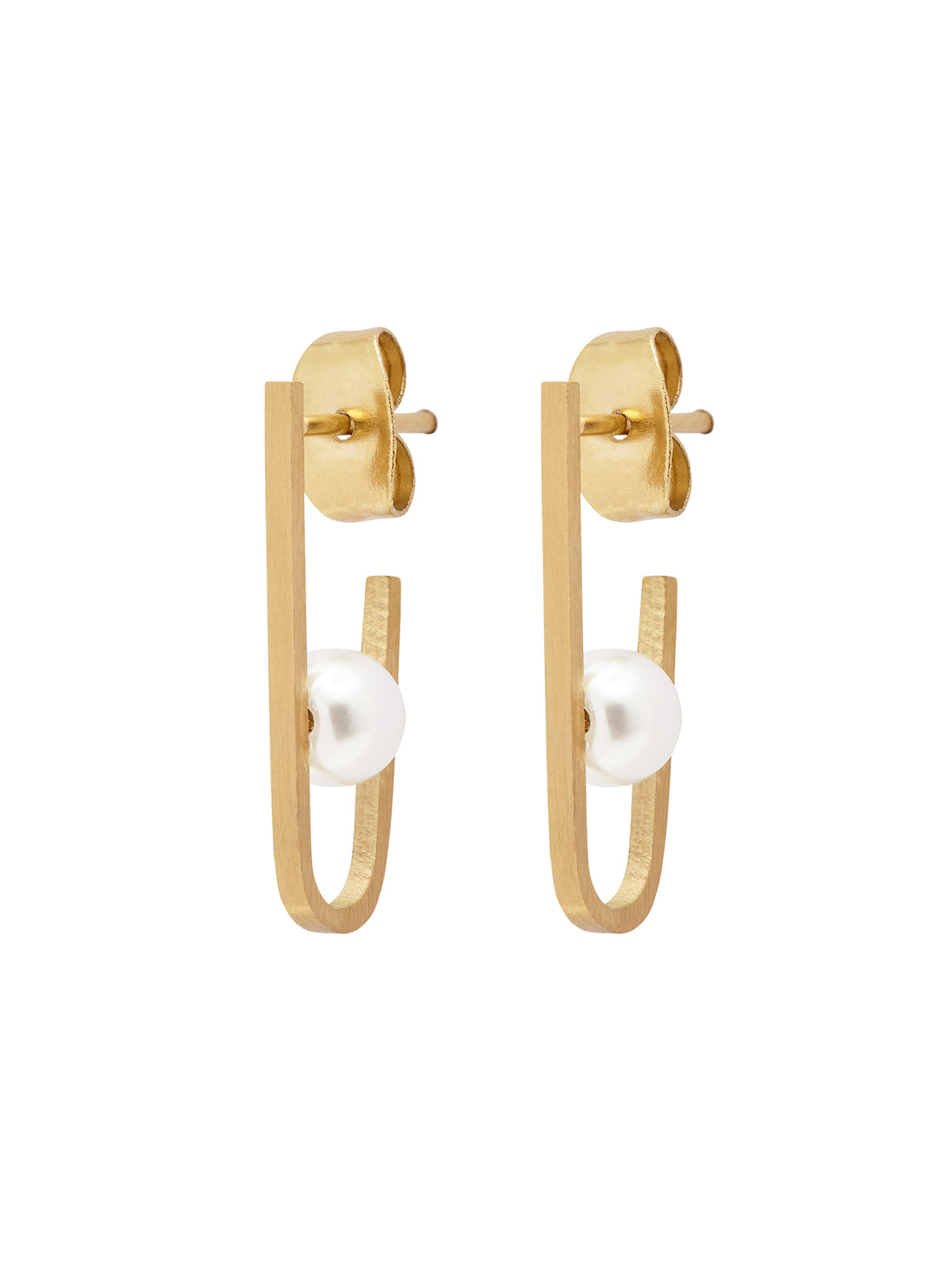 NANCI EARRING MATTE GOLD