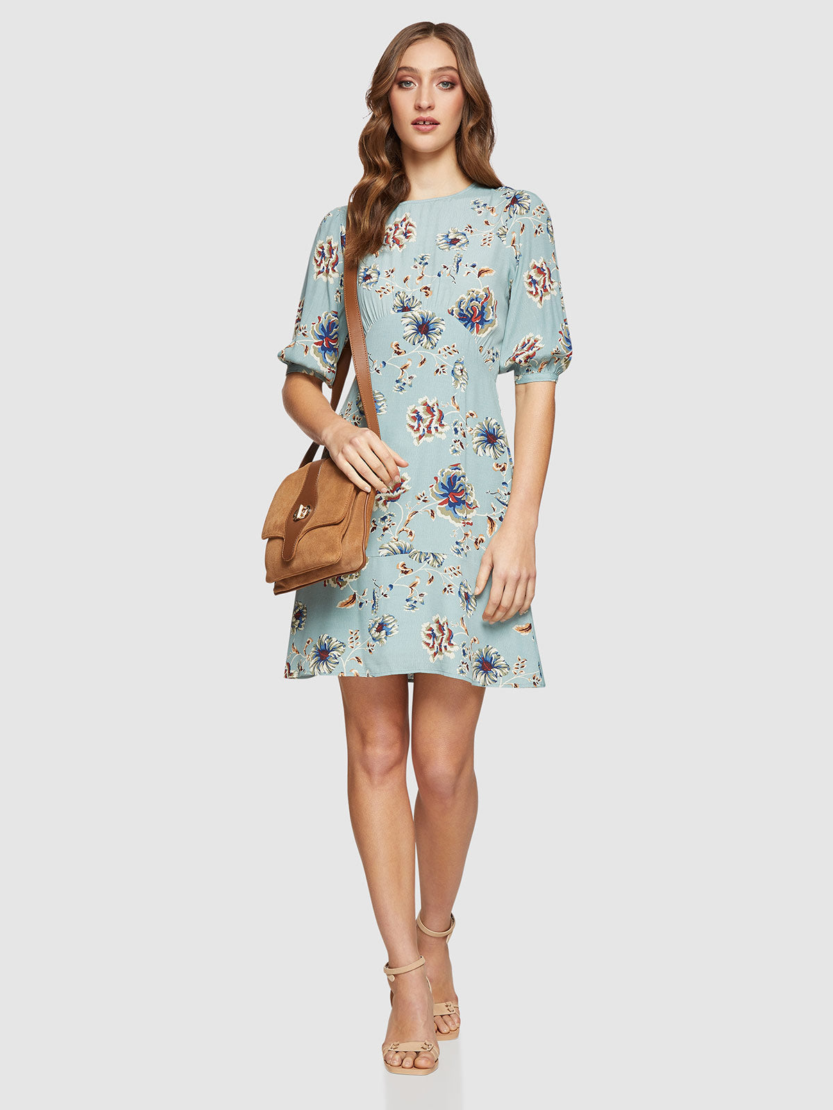LIZA FLORAL PRINTED DRESS GREEN