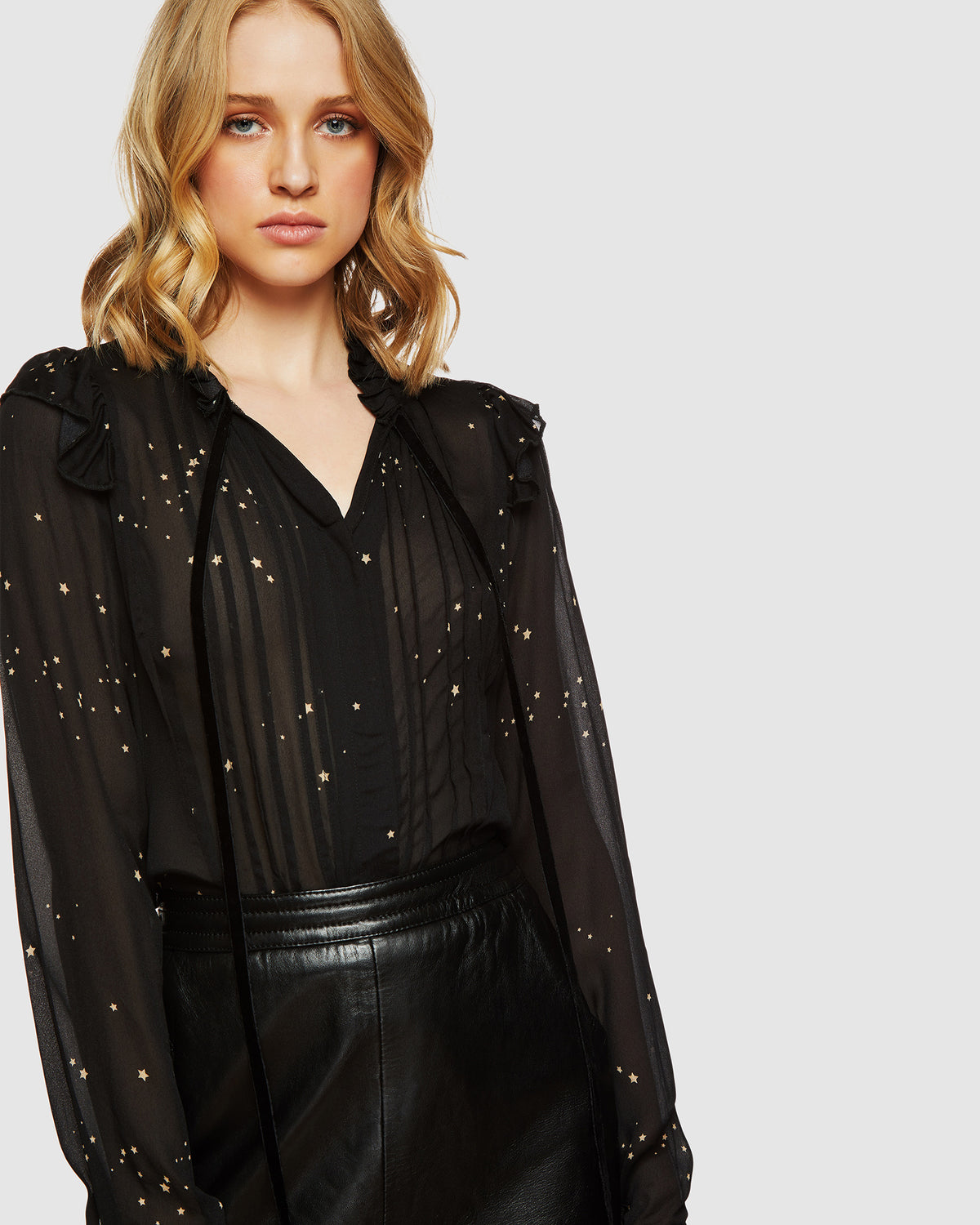MATILDA STARGAZER TOP BLACK/GOLD