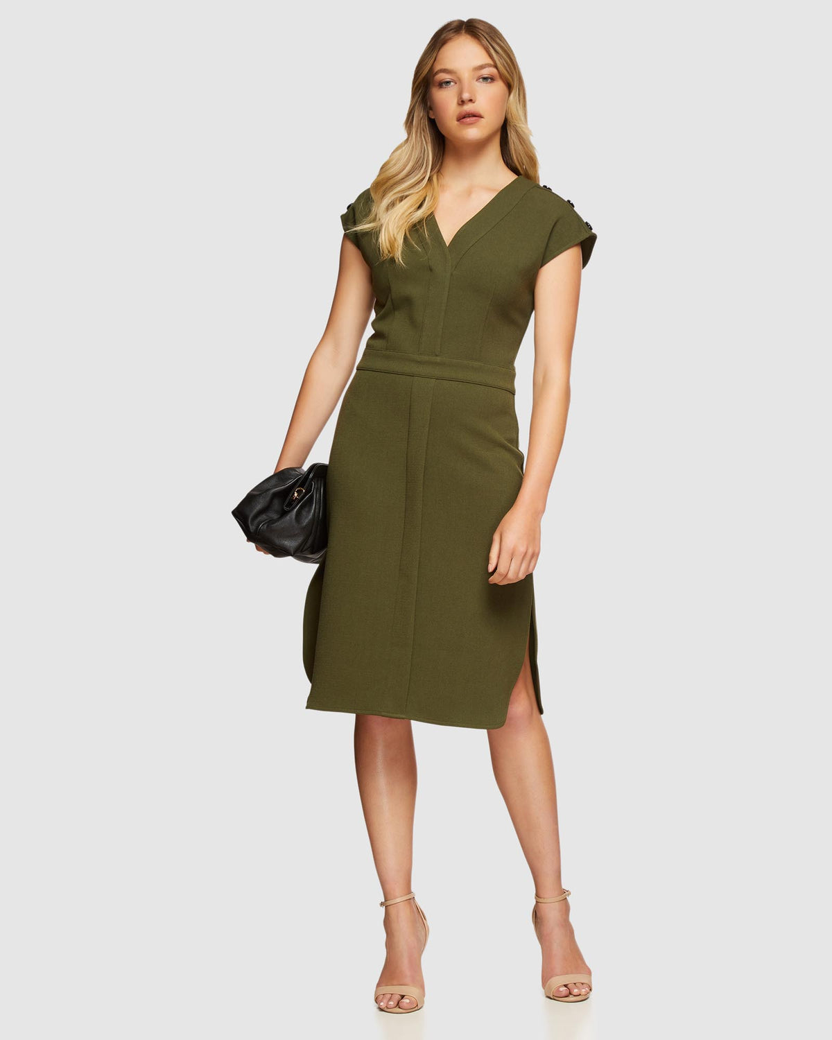 BERLIN STRETCH DRESS MILITARY
