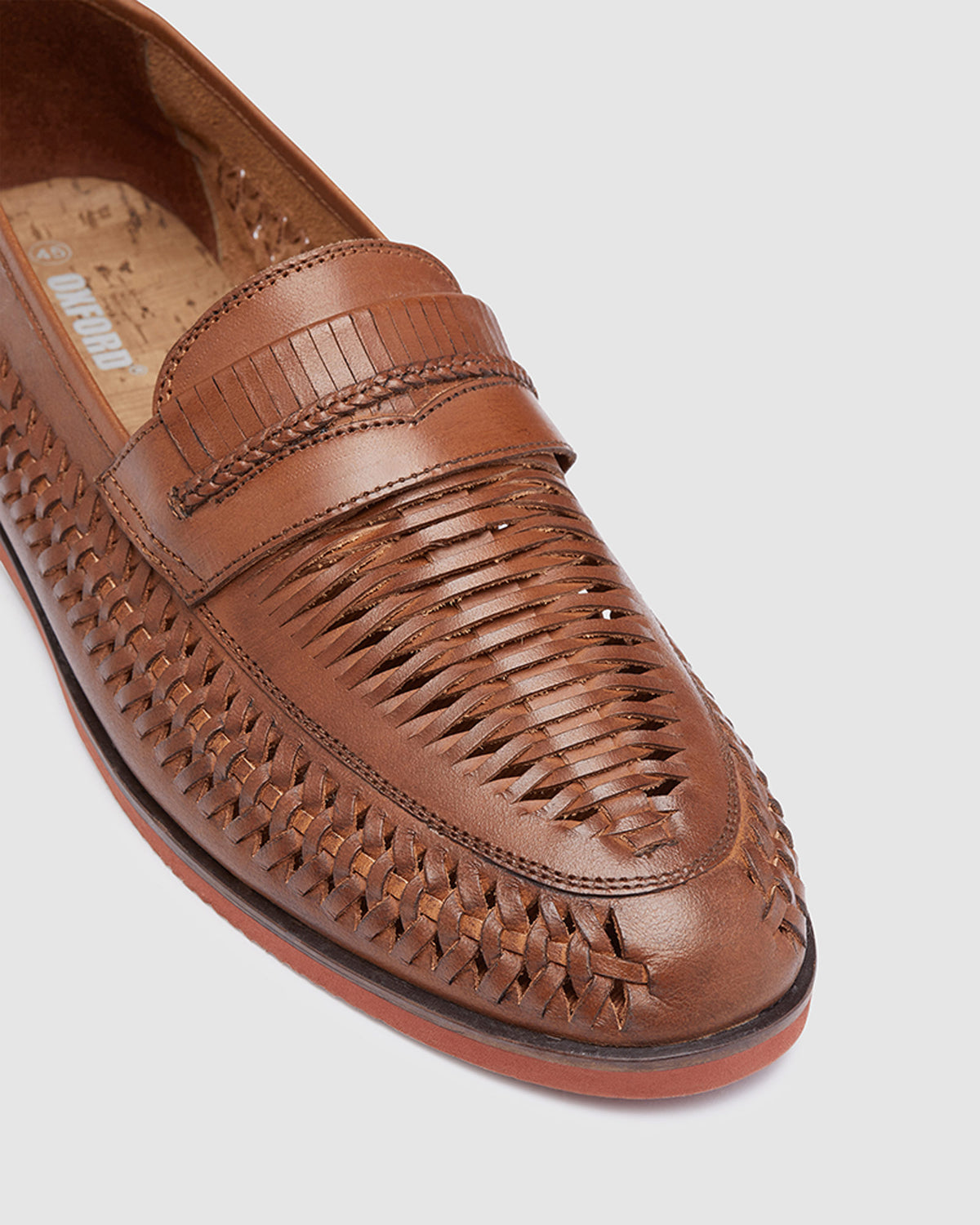 FELIX SLIP ON WOVEN LOAFER TAN
