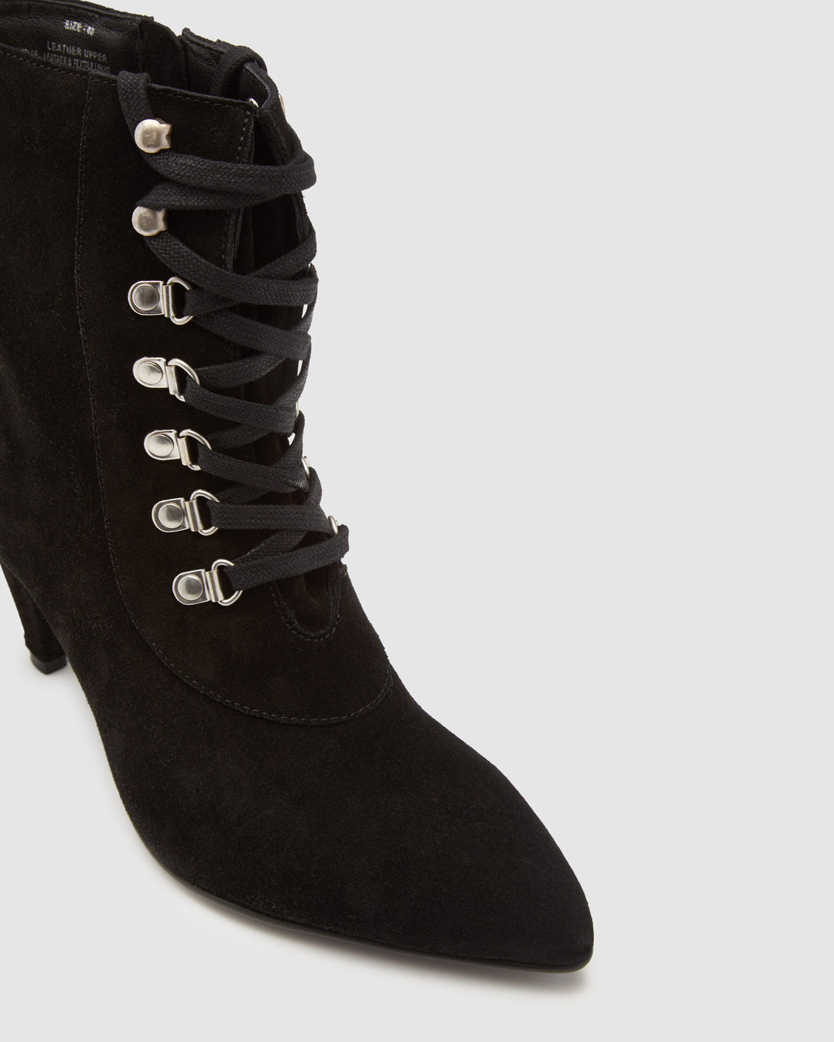 ROCHELLE SUEDE LACE UP BOOT BLACK