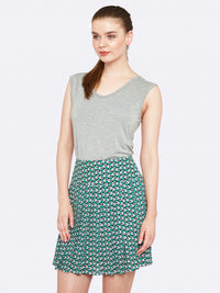 RUBY GEO PRINT SKIRT GREEN