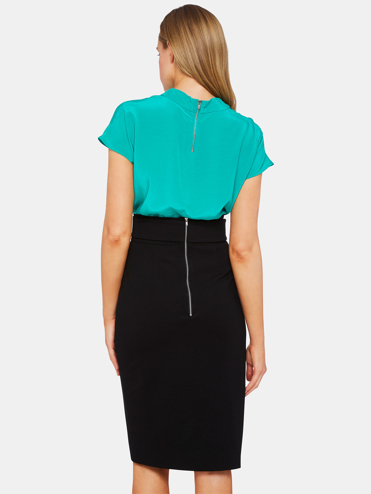 BANKS TURTLE COLLAR TOP GREEN