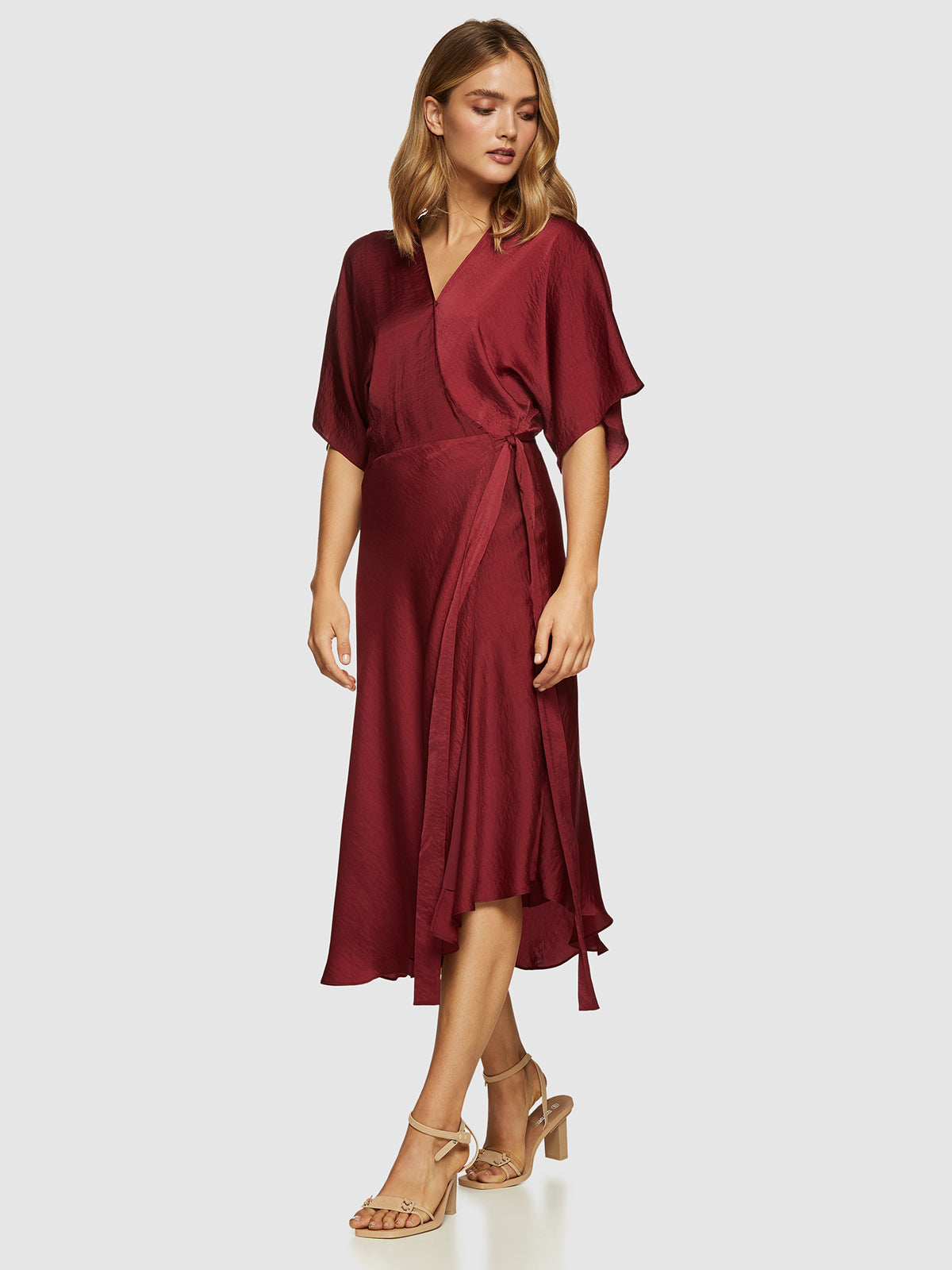 MINTY WRAP DRESS WINE