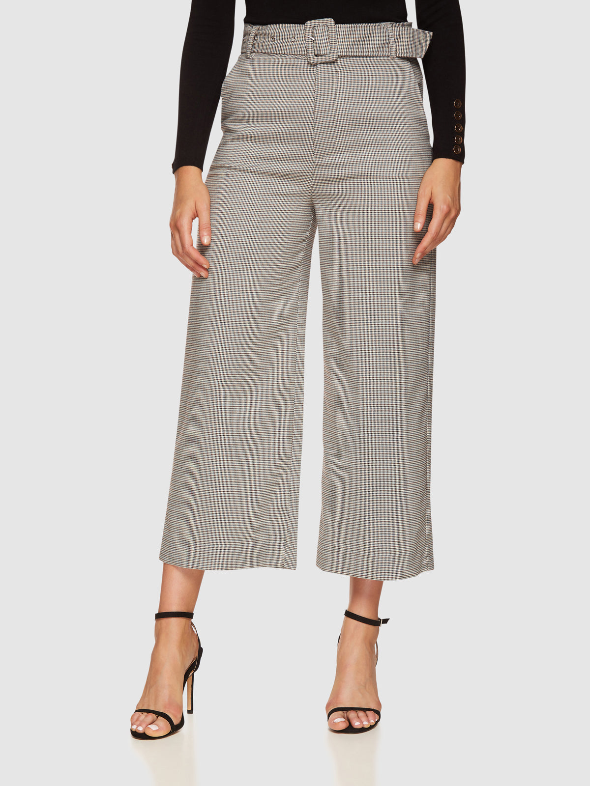 LACIE CHECKED CULOTTES CHOCOLATE/GREEN