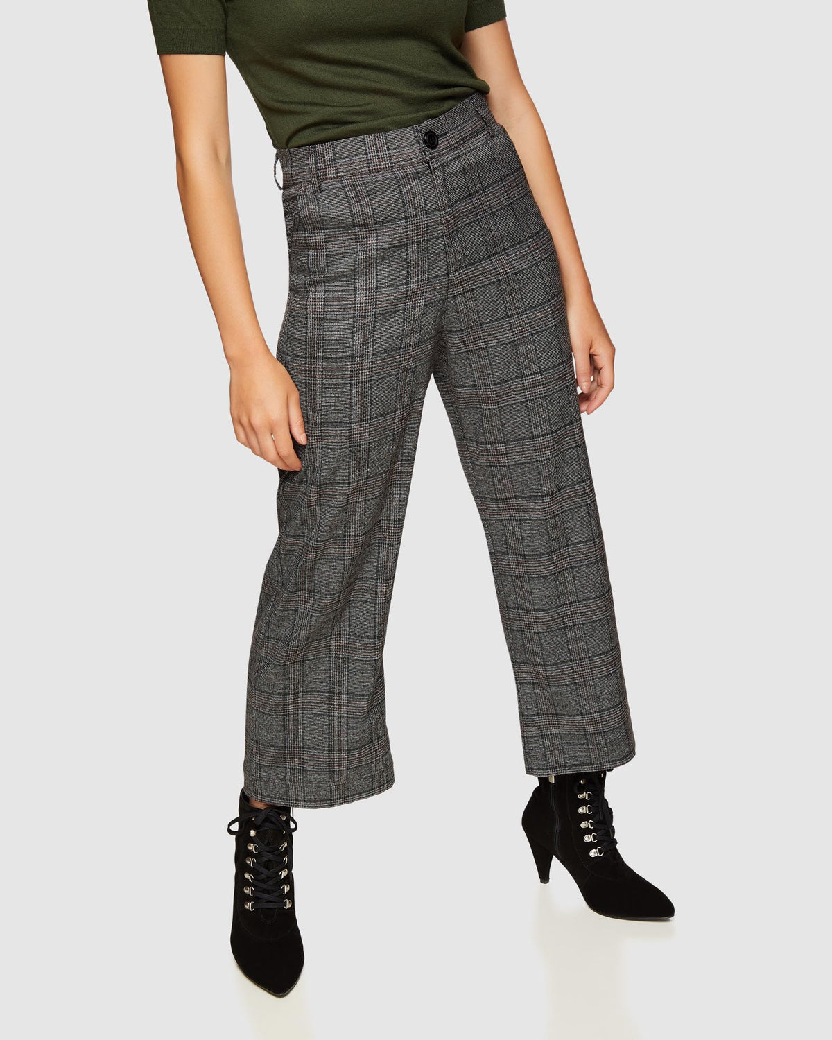 HELENA CHECKED CULOTTES BLACK CHECK