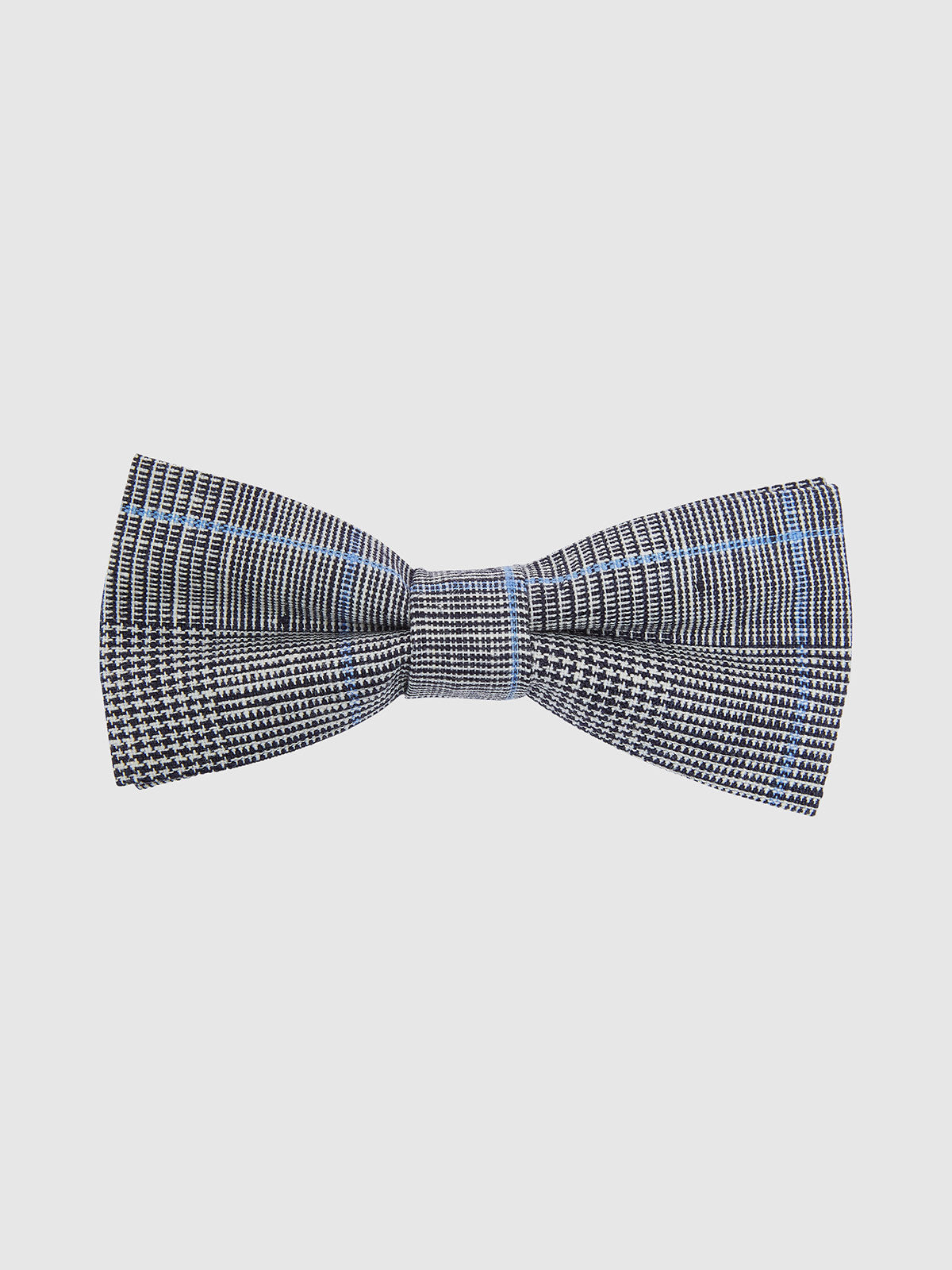 BOW TIE PRINCE OF WALES CHECK BLACK/WHITE/BLUE