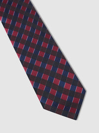 CHECK TIE NAVY/RED