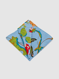 WALL FLOWER POCKET SQUARE BLUE
