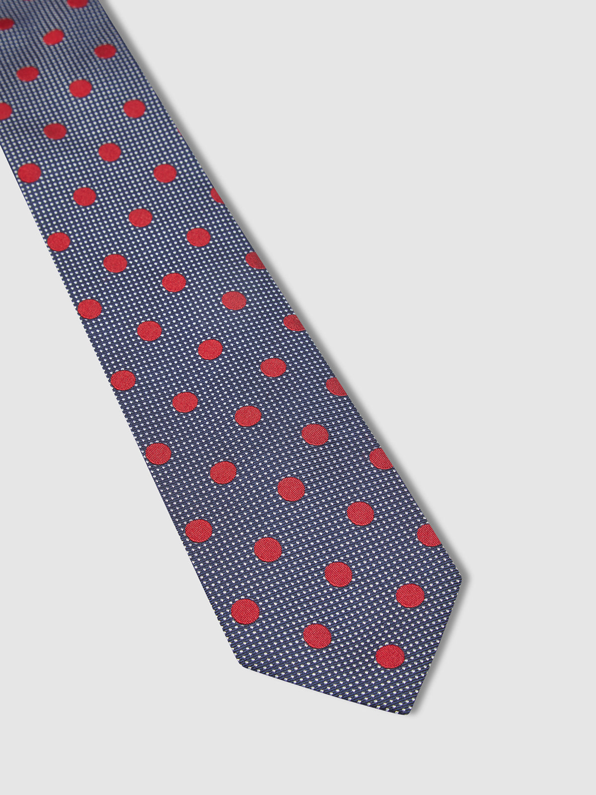 SPOT ON SPOTS TIE NAVY/RED
