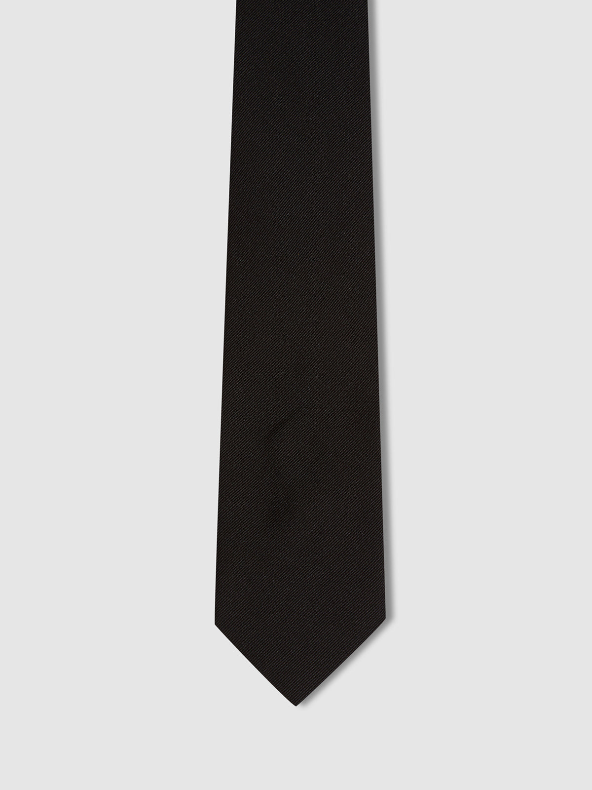 TWILL REGULAR TIE BLACK