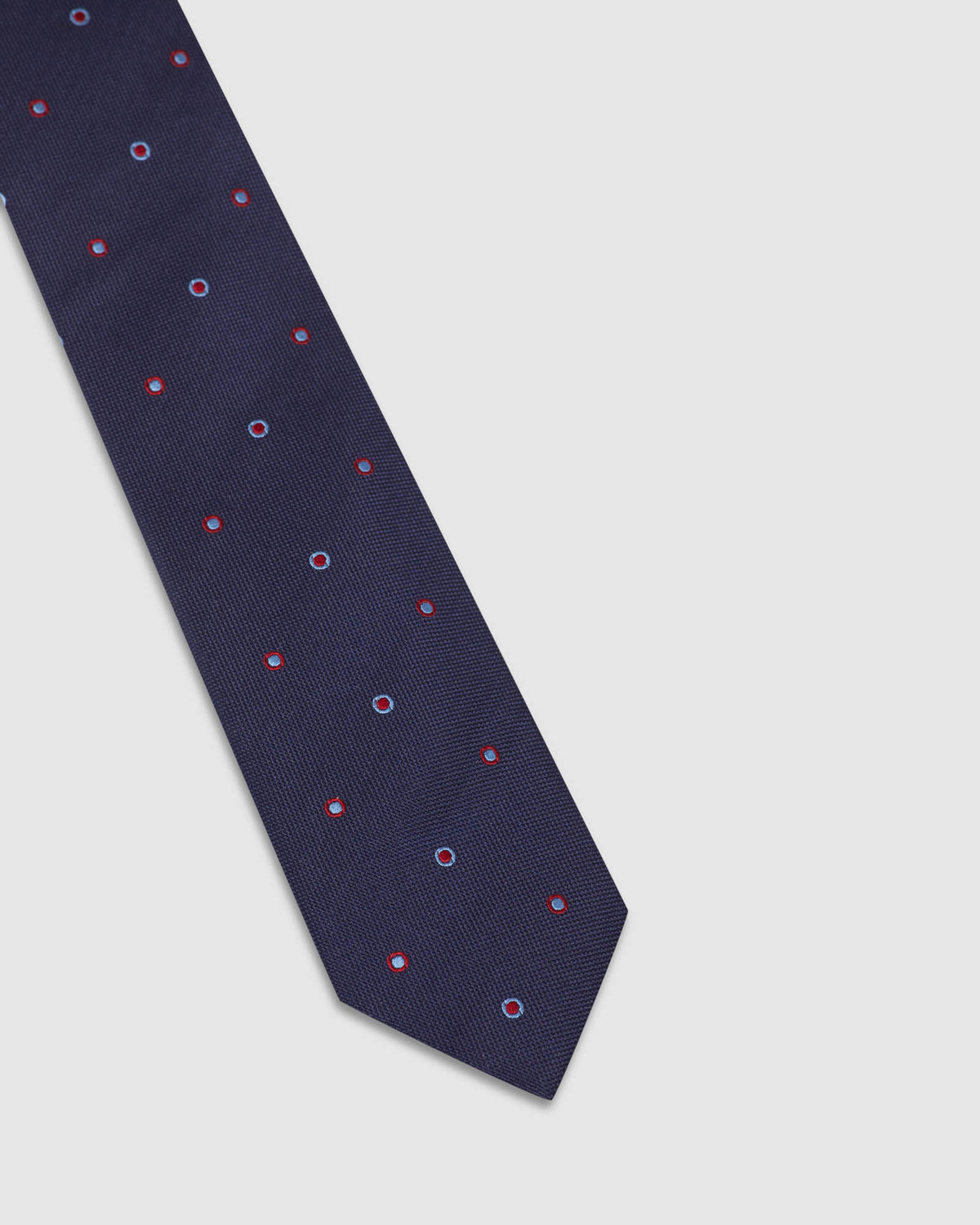 BULLS EYE SILK TIE NAVY