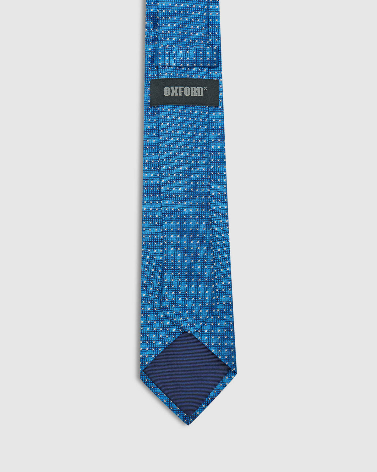 SILK DIAMOND TIE ROYAL BLUE