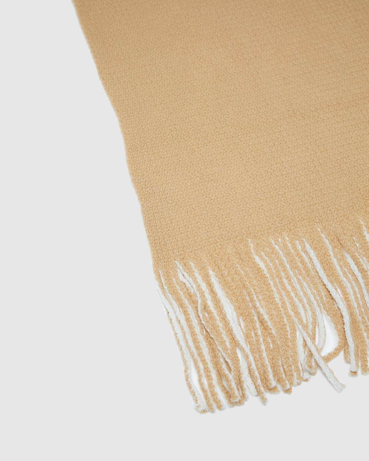 TAURIEL BRUSHED TEXTURED SCARF CAMEL