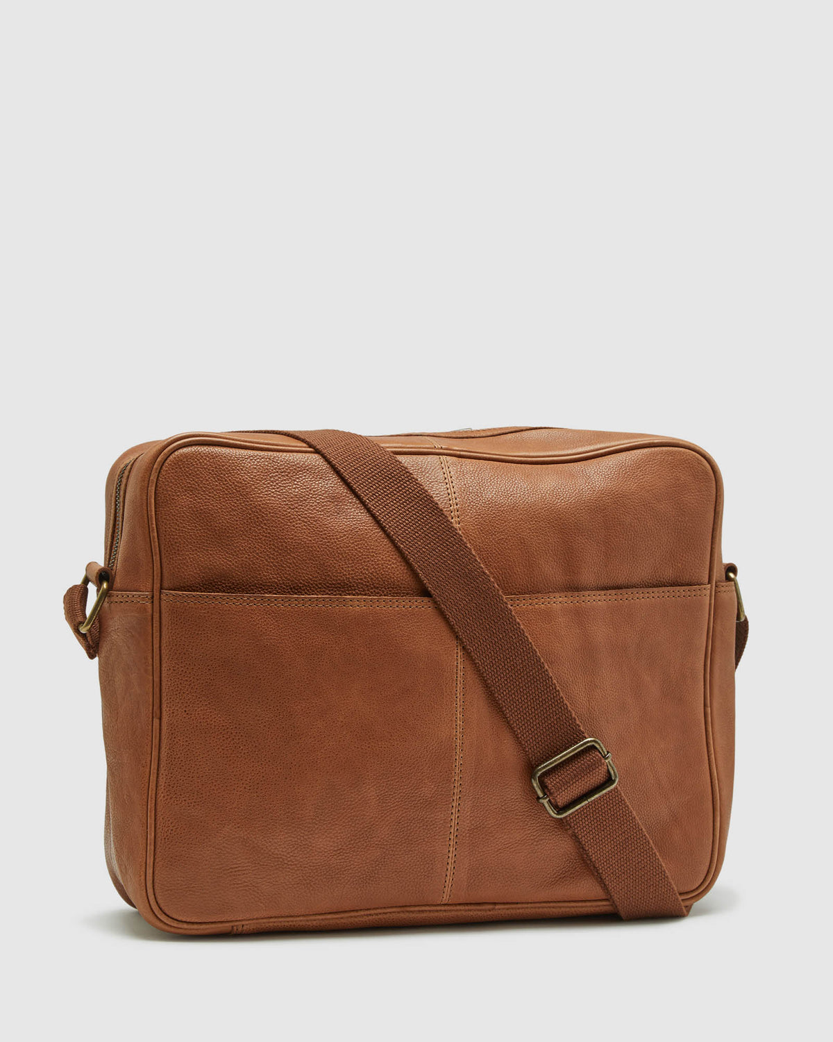 JOYCE LEATHER MESSENGER BAG