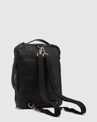 SWIFT LEATHR BACKPACK/BRIEFCASE BAG BLACK