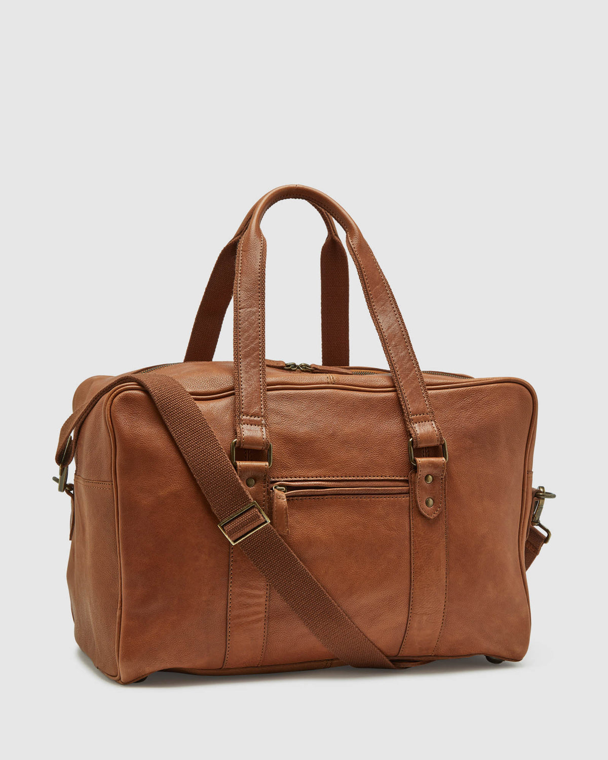 BECKETT LEATHER WEEKENDER BAG TAN
