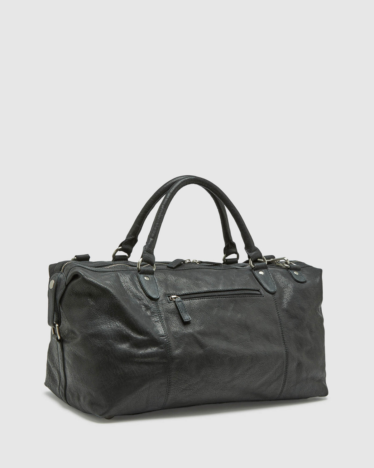 YEATS LEATHER OVERNIGHT BAG BLACK