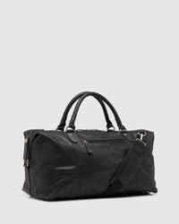 SHAW LEATHER WEEKENDER BAG BLACK
