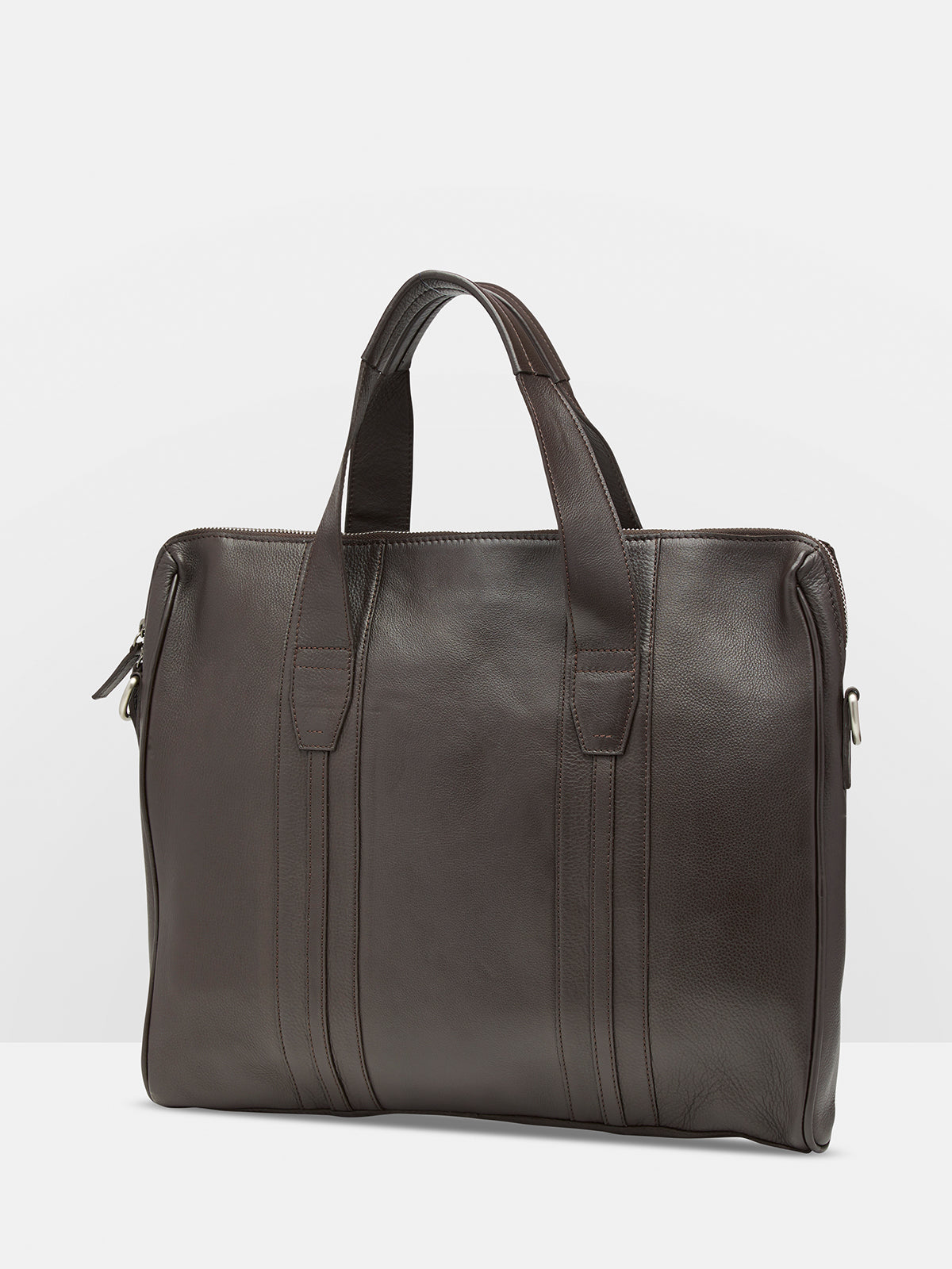 LOGAN LEATHER BRIEFCASE CHOCOLATE