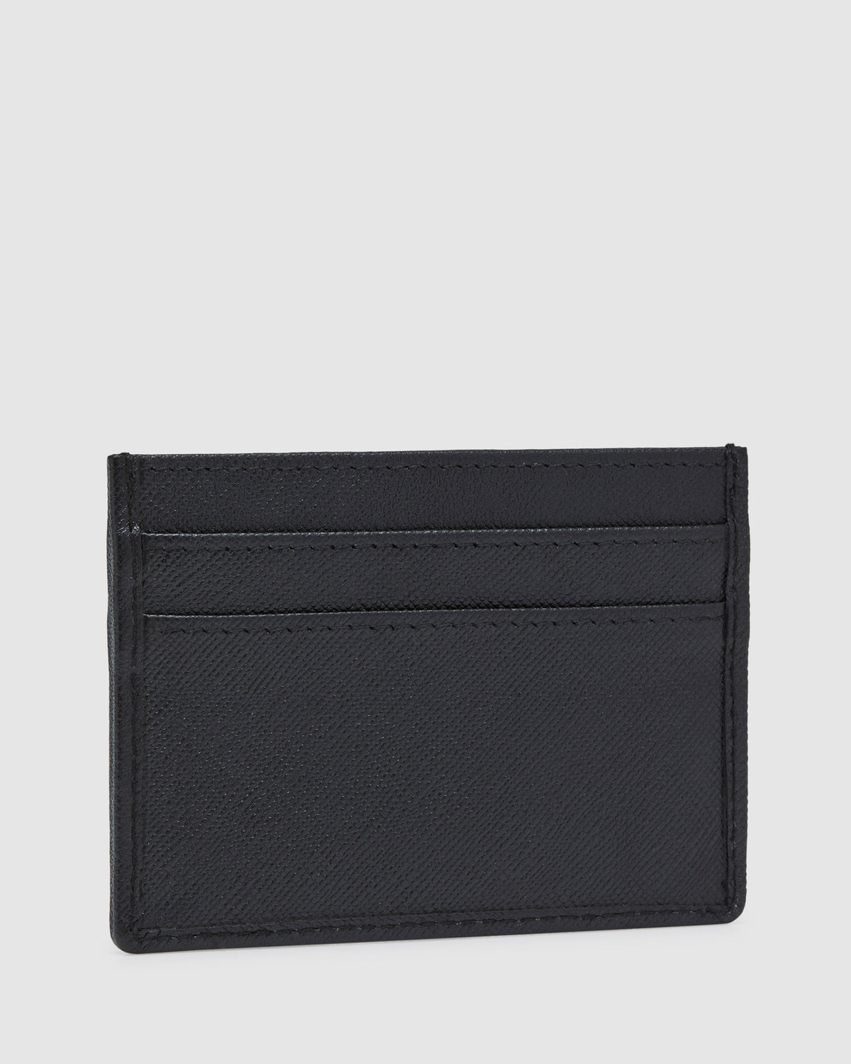 WAGNER LEATHER CARD HOLDER BLACK