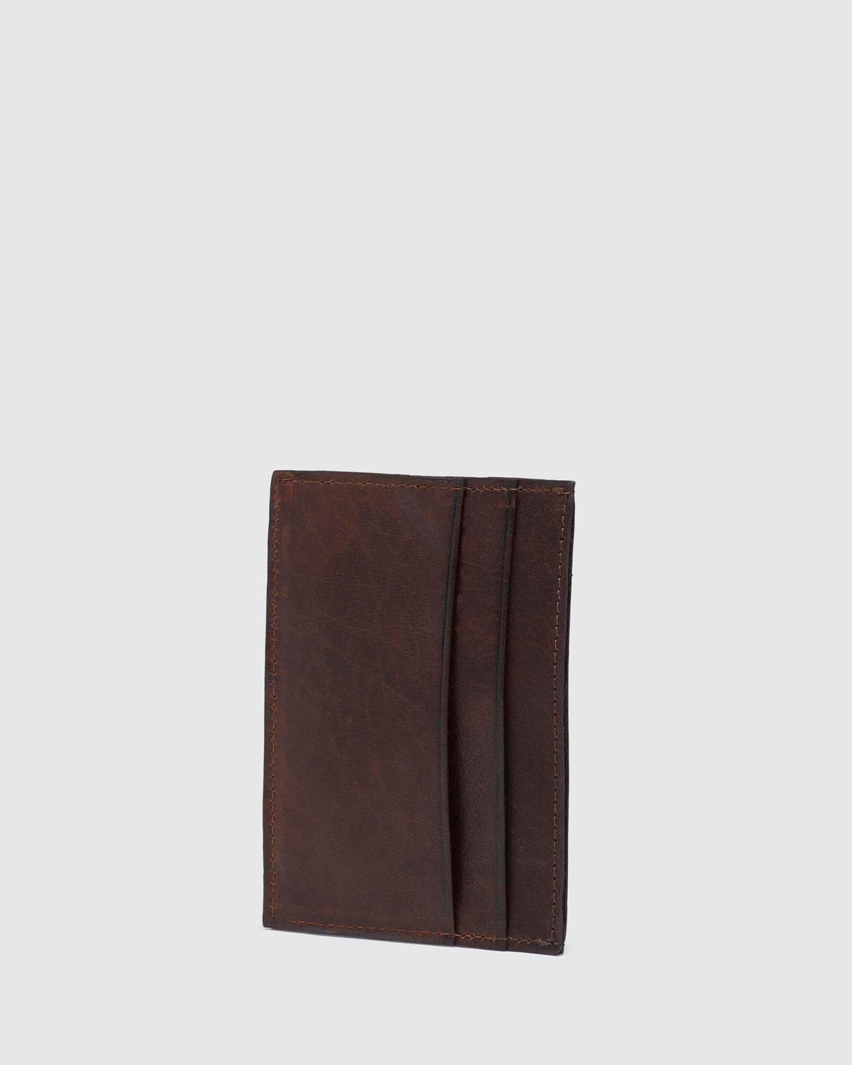 KEENE LEATHER CARD HOLDER CHOCOLATE