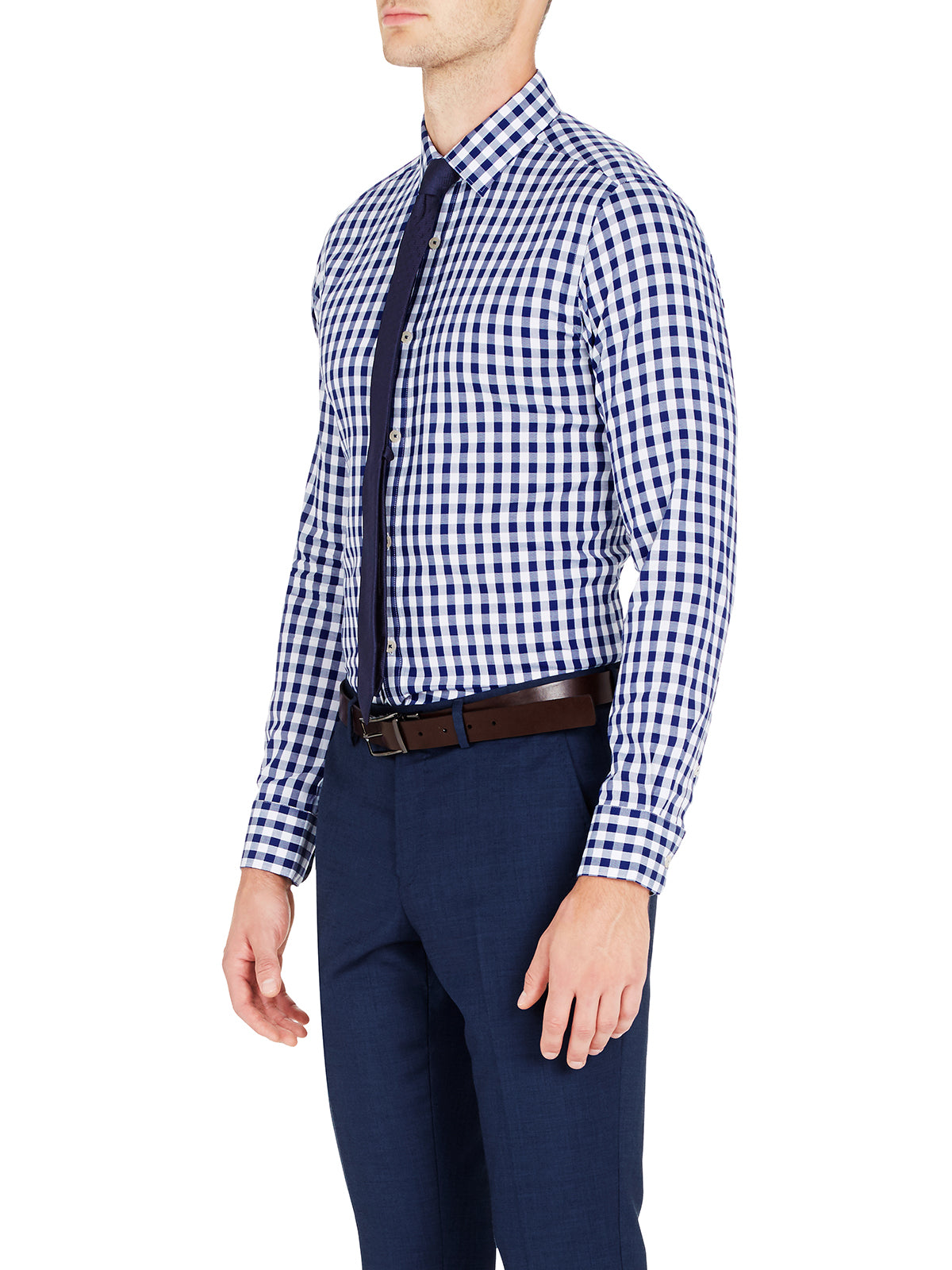 BECKTON GINGHAM CHECK SHIRT  SKY