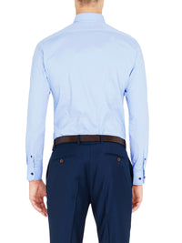 STRETCH SLIM FIT SHIRT PALE BLUE