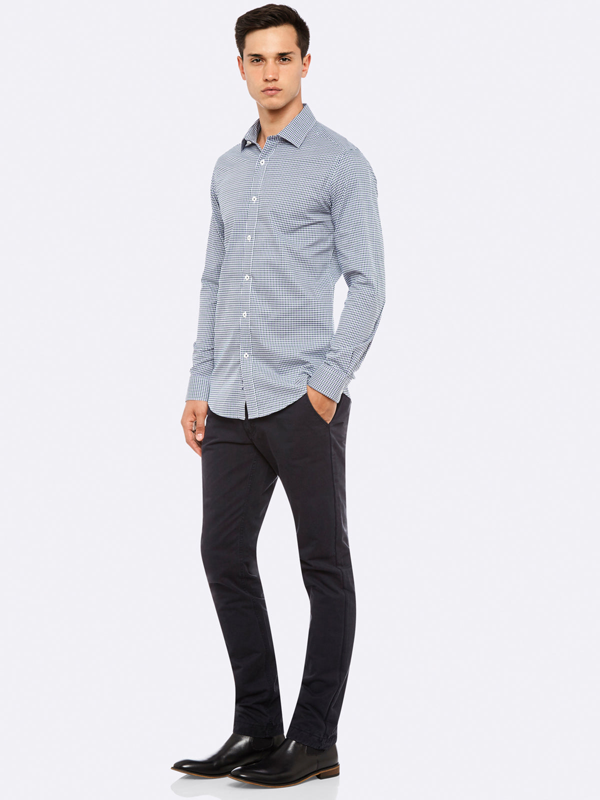 BECKTON MINI CHCK SHIRT GRY/MBRRY
