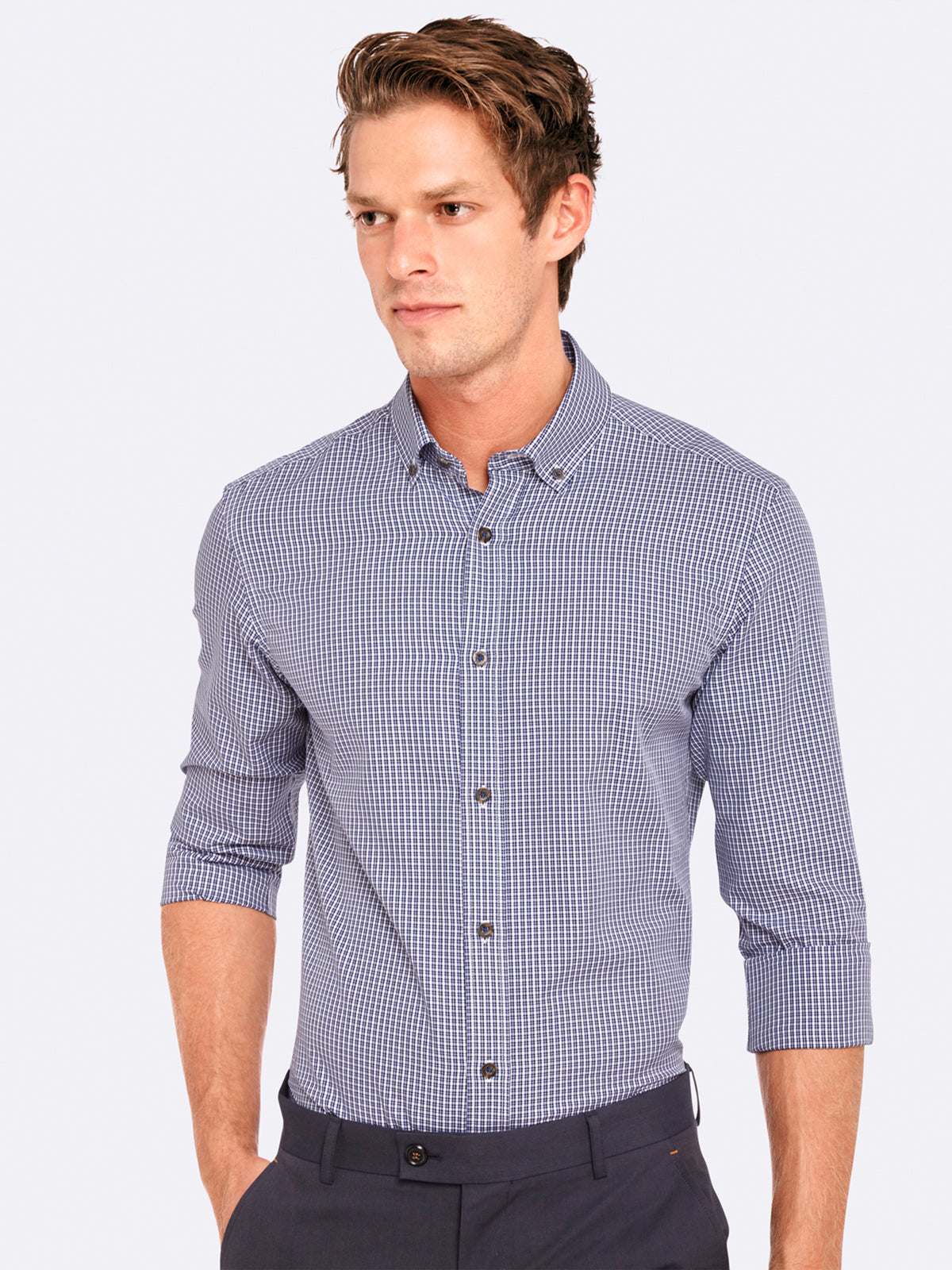 STRATTON MINI CHECK SHIRT RED/BLUX