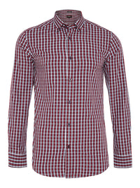 STRATTON CHECKED SHIRT RED/NAVY