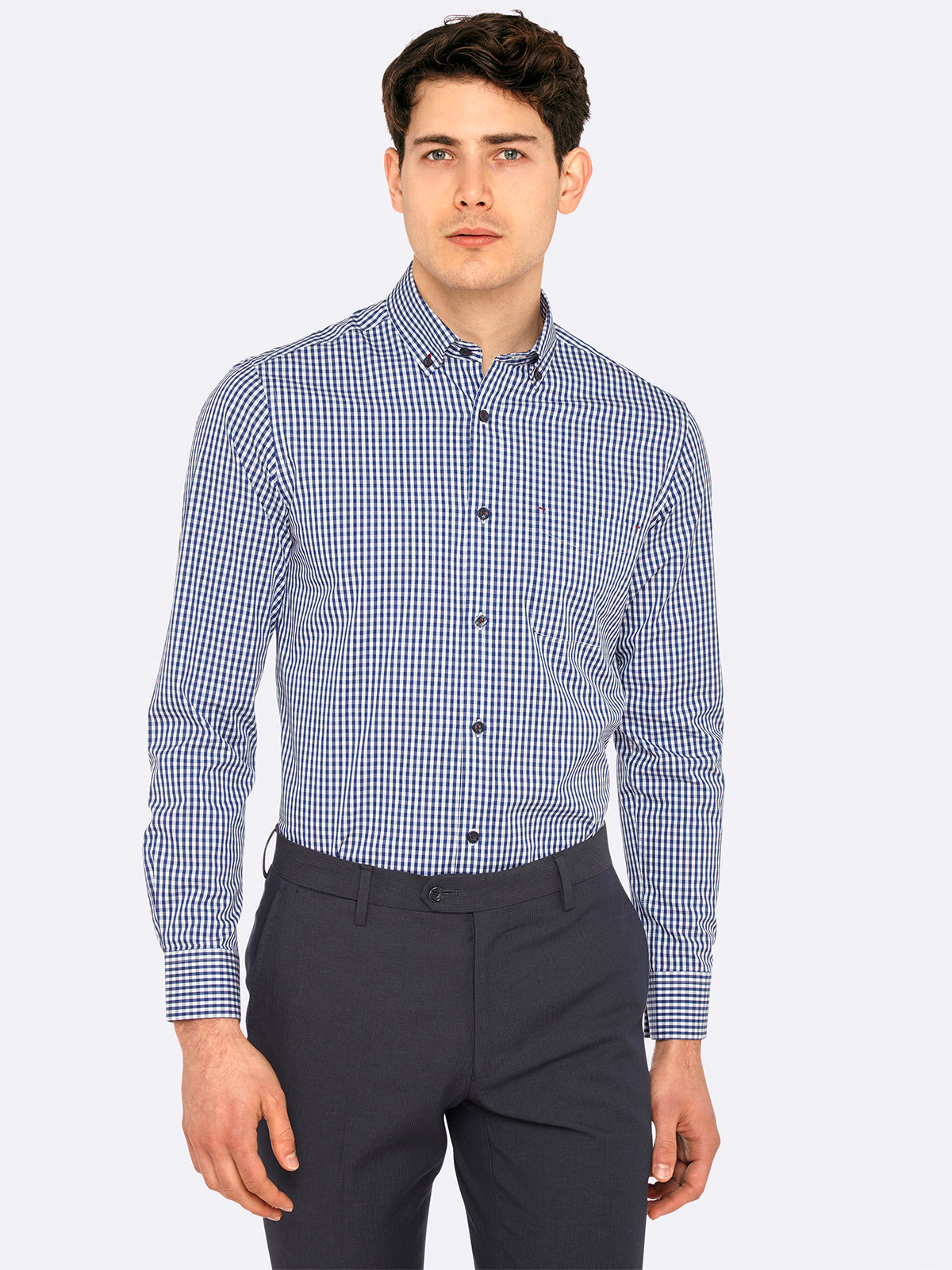 STRATTON CHECKED SHIRT CHARCOALX