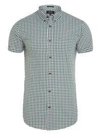 TOTTENHAM S/SLV CHECK SHIRT GREEN