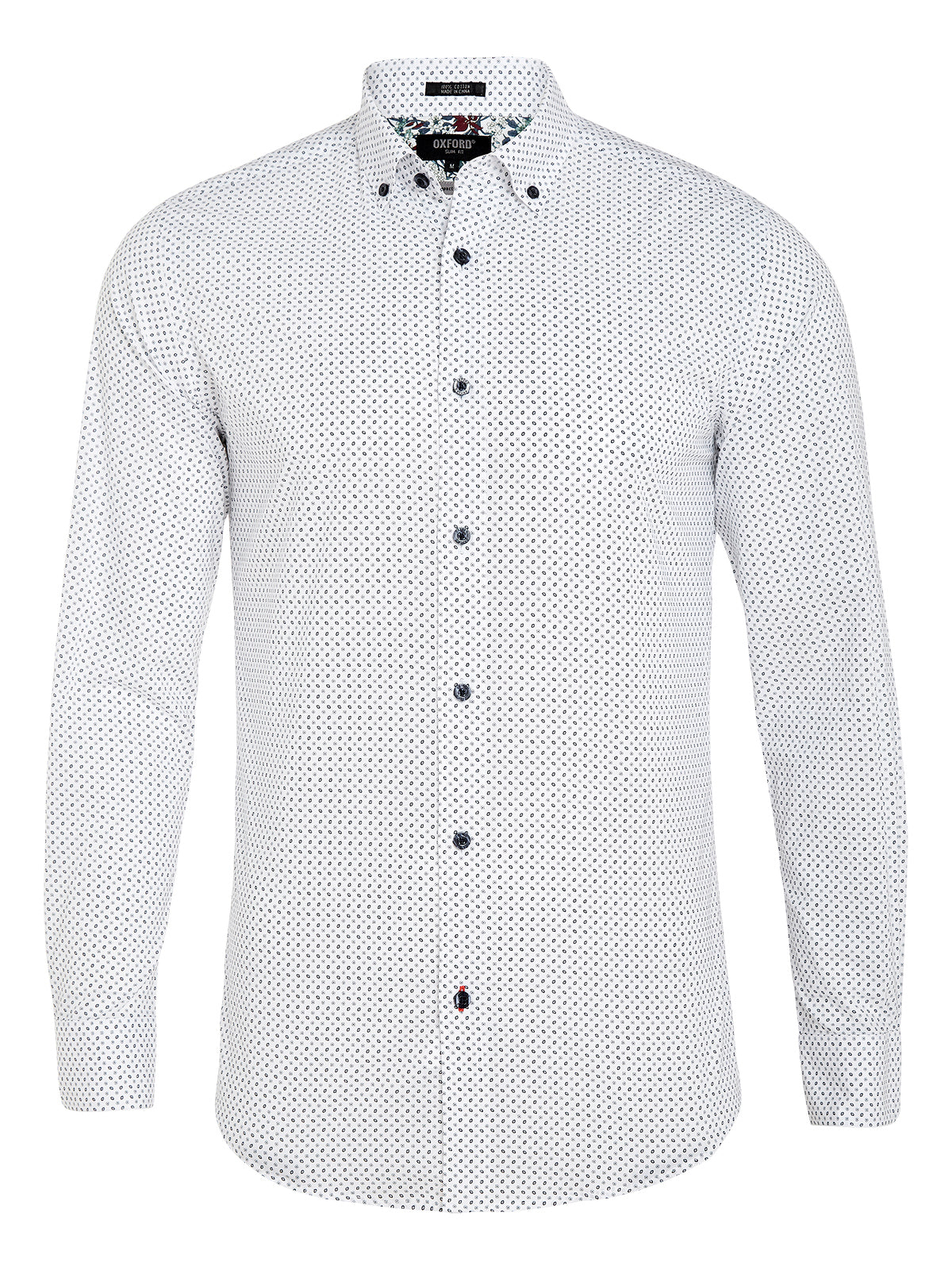 STRATTON MINI PRINT SHIRT NVY/WHT