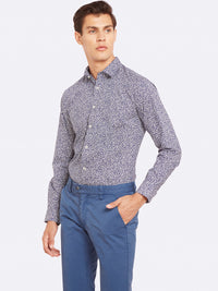 KENTON PRINTED SHIRT NVY