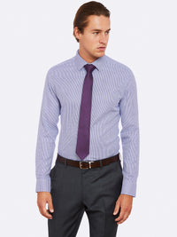 BECKTON DOBBY SHIRT PURPLE