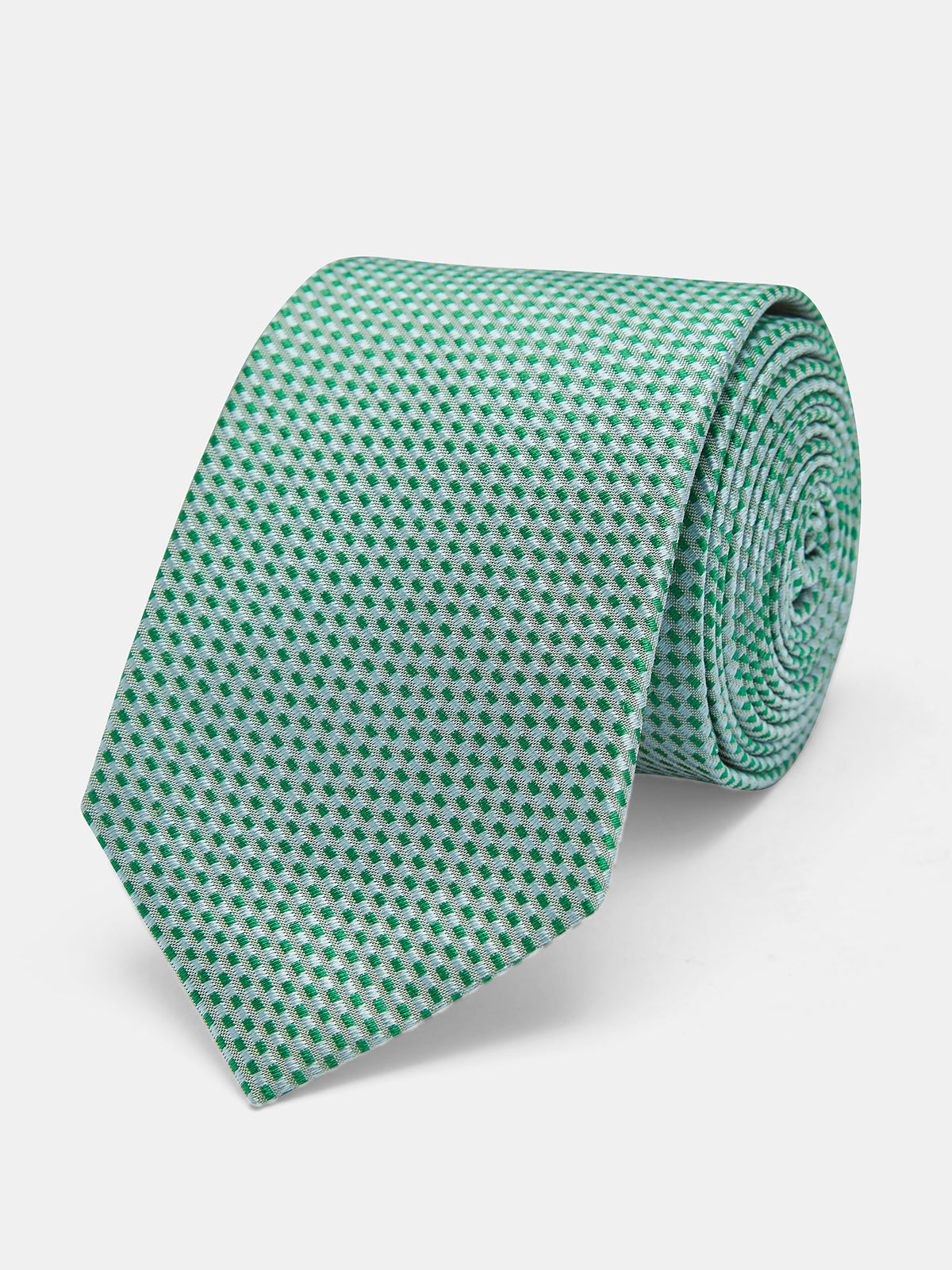 TIE SILK RECTANGLES REGULAR GREEN