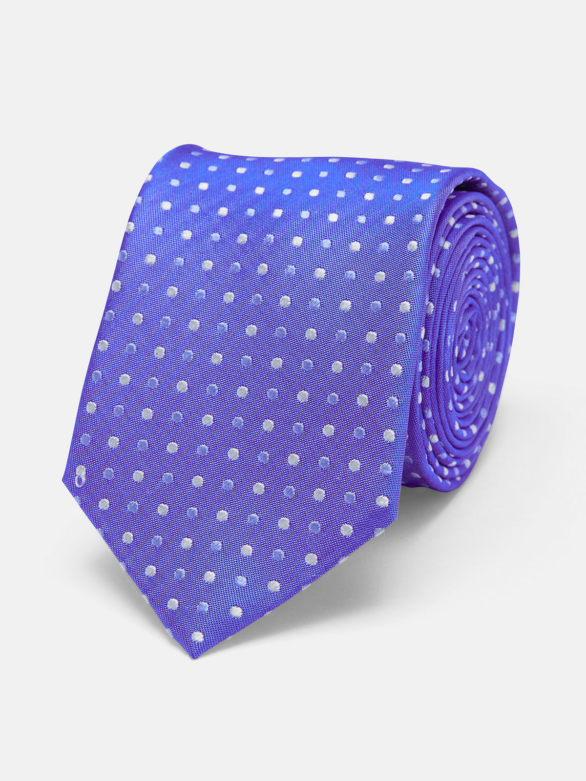 TIE SILK SPOTS REGULAR BRIGHT BLUE