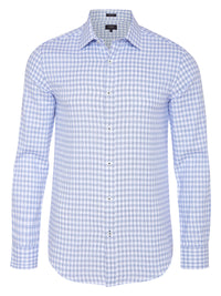 BECKTON CHECKED SHIRT BLUE