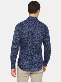 KENTON FLORAL PRINT SHIRT NAVY