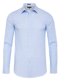 BECKTON JACQUARD SHIRT LIGHT BLUE