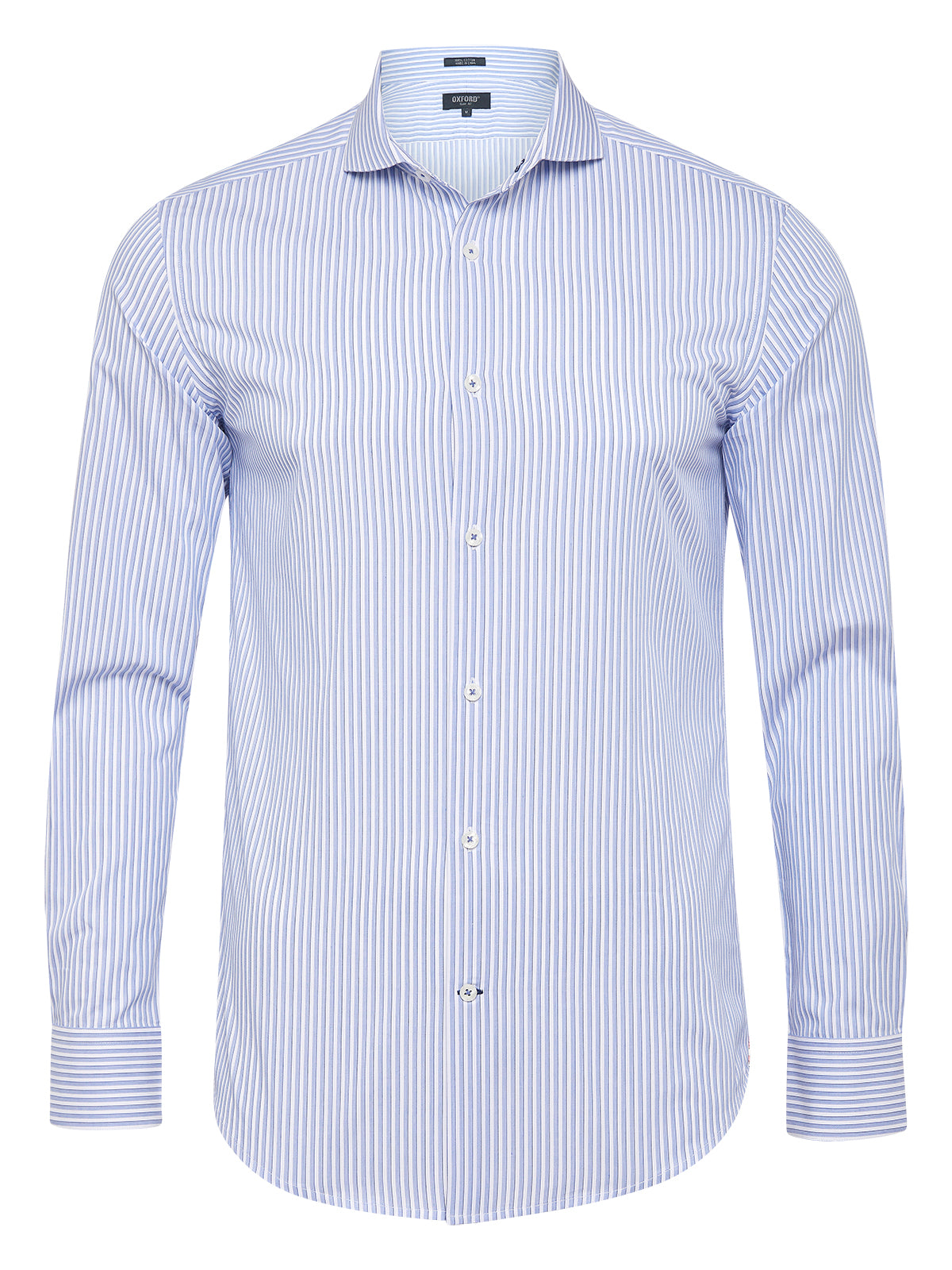 KENSINGTON STRIPED SHIRT BLUE