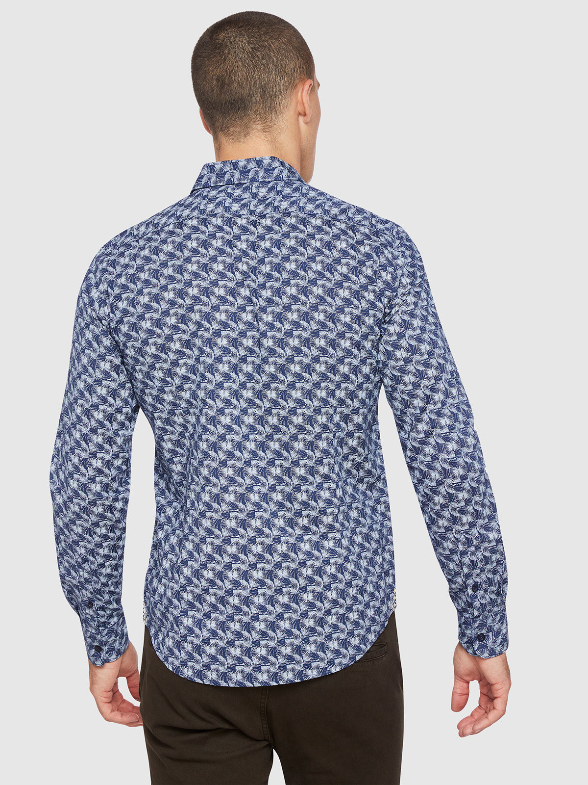 KENTON PRINTED SHIRT PETROL